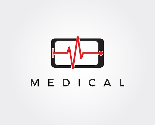 Telefoonreparatieservice logo sjabloon overstekende telefoons met schaduw op de hex-achtergrond