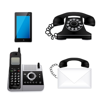 Telefoons pictogrammen