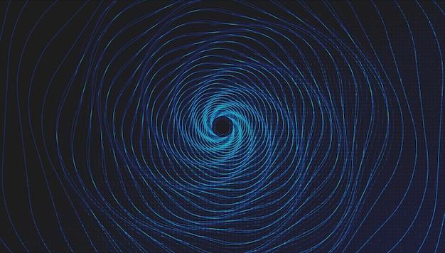 Teleport warp spiral technology op light blue, network concept design