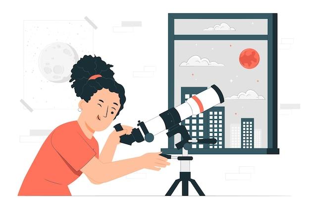 Telescoop concept illustratie