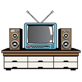 Televisie en audiosysteem