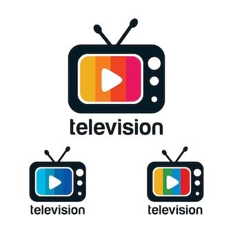 Televisie logo ontwerp