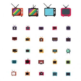 Televisie ontwerpt collectie