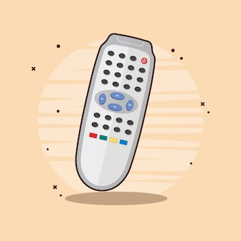 Televisie op afstand plat ontwerp