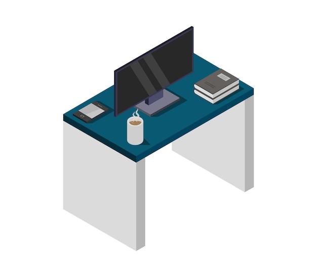 Televisie op isometrische tafel