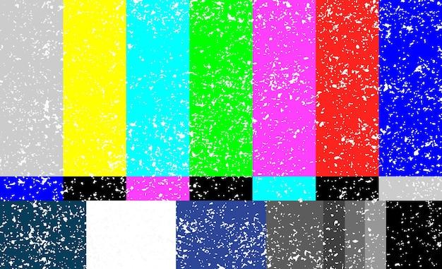Televisiefout op het scherm van de televisiegrungetextuur. vector illustratie eps 10.