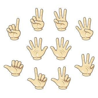 Tellen met vingers hand