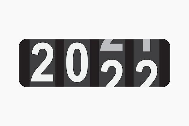 Teller voor 2022 jaar vectorillustratie