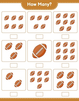 Telspel hoeveel rugby ball educatief kinderspel afdrukbaar werkblad