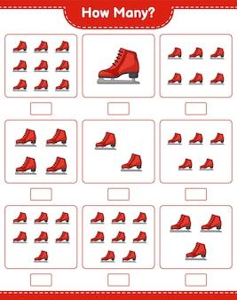 Telspel hoeveel schaatsen educatief kinderspel afdrukbaar werkblad
