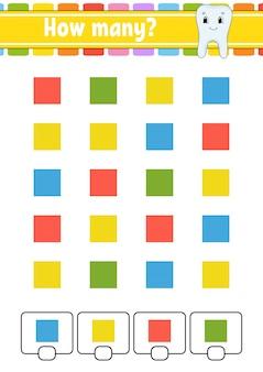 Telspel voor kinderen. blije karakters. wiskunde leren.