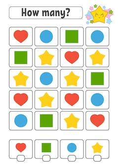 Telspel voor kinderen. vrolijke karakters. wiskunde leren.