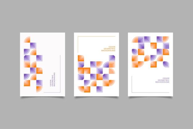 Tempalte omslag geometrisch ontwerp