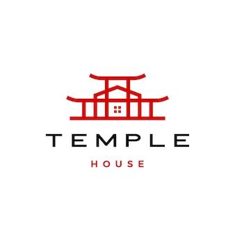 Tempel huis logo pictogram illustratie
