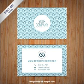 Template lichtblauw visitekaartje