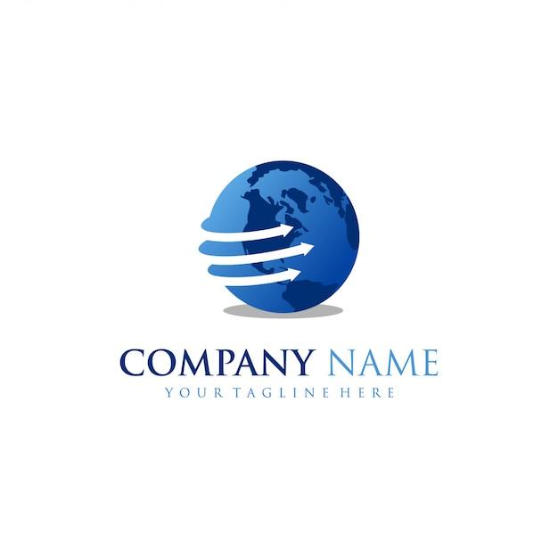 Template logo globe