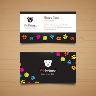 Template pet business card