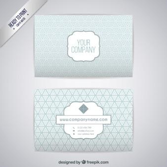 Template zilver visitekaartje