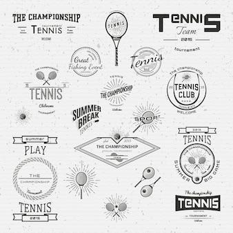 Tennis badges logo's en labels voor elk gebruik