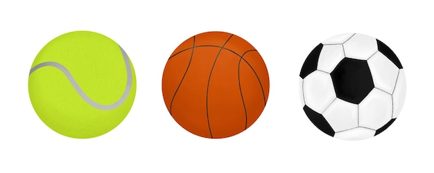 Tennis basketbal voetballen set