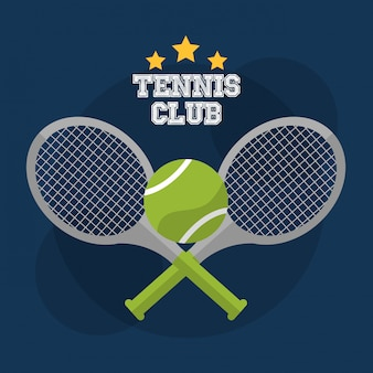 Tennis club racket cross balspel competitie