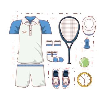 Tennis heren kleding pictogram