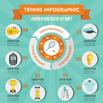 Tennis infographic concept.