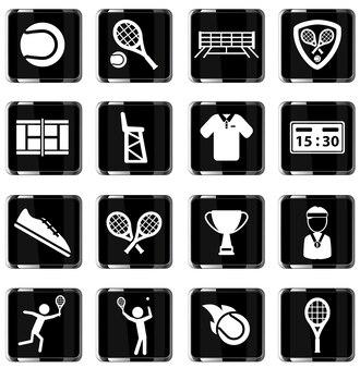 Tennis is gewoon symbool voor webpictogrammen