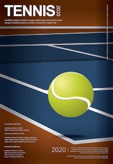 Tennis kampioenschap poster illustratie