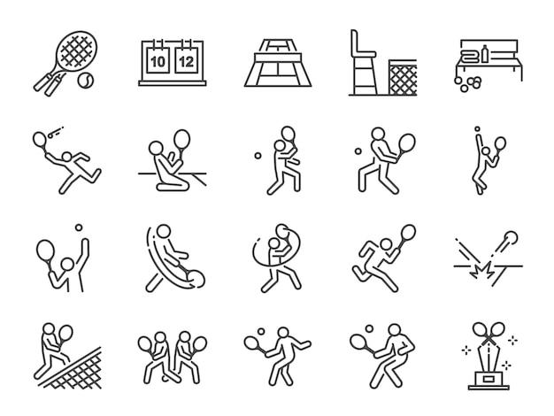 Tennis pictogramserie.