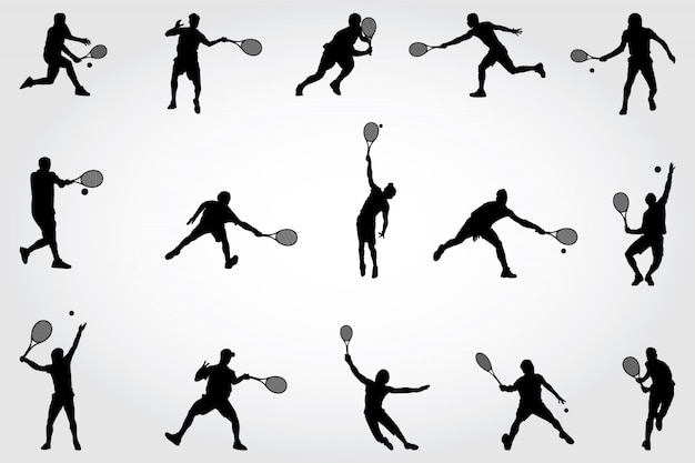 Tennis silhouetten