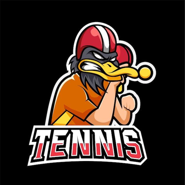 Tennis sport en esport gaming mascotte logo