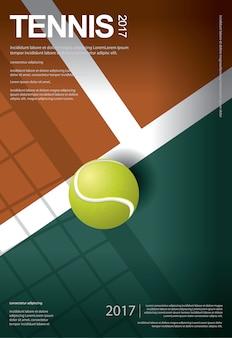 Tenniskampioenschap poster illustratie