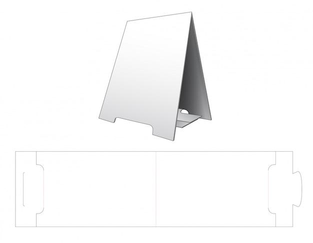 Tent display standaard gestanst sjabloon