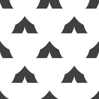 Tent, vector naadloos patroon, bewerkbaar kan worden gebruikt voor webpagina-achtergronden, opvulpatronen