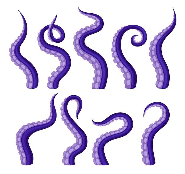 Tentakels octopus van verschillende vormen