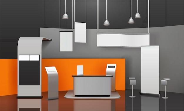 Tentoonstelling booth 3d-compositie