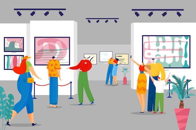 Tentoonstelling in kunstgalerie