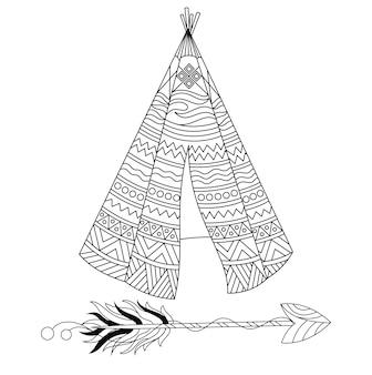 Tepee met sierontwerp