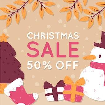 Ter beschikking getrokken de verkoopbanner van kerstmis