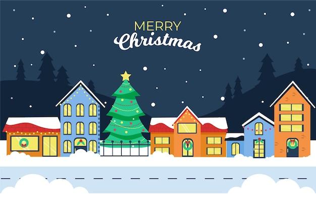 Ter beschikking getrokken het concept van de kerstmisstad