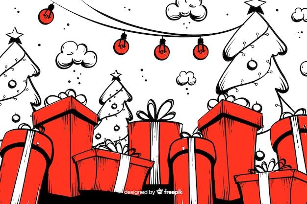 Ter beschikking getrokken kerstmisachtergrond