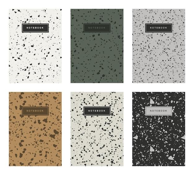 Terrazzo abstracte voorbladsjablonen