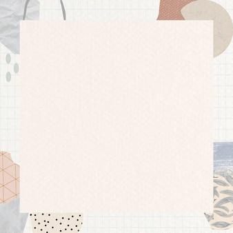 Terrazzo frame op beige achtergrond