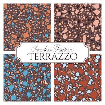 Terrazzo gebroken tegel vloer naadloze structuurpatroon
