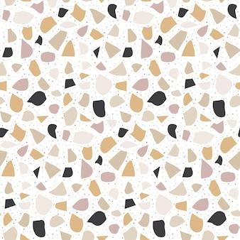 Terrazzo modern naadloos patroon