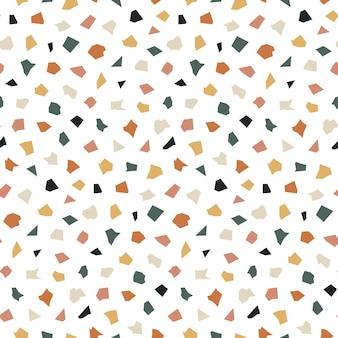 Terrazzo naadloos patroon met chaotische vlekken