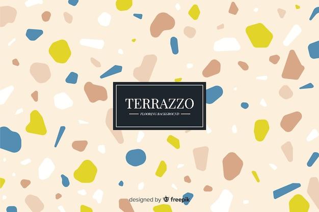Terrazzovloerachtergrond op bruine kleur