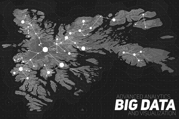 Terrein visualisatie van big data