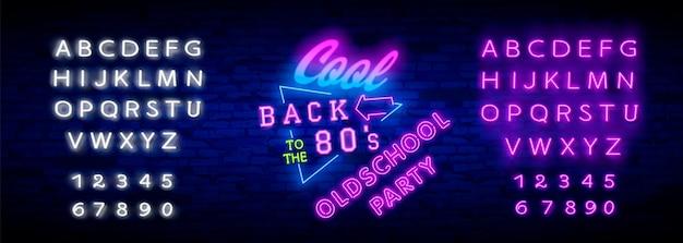 Terug naar het neonlicht uit de jaren 80